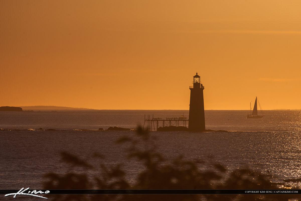 Ram Island Lighthouse From Cape Elizabeth