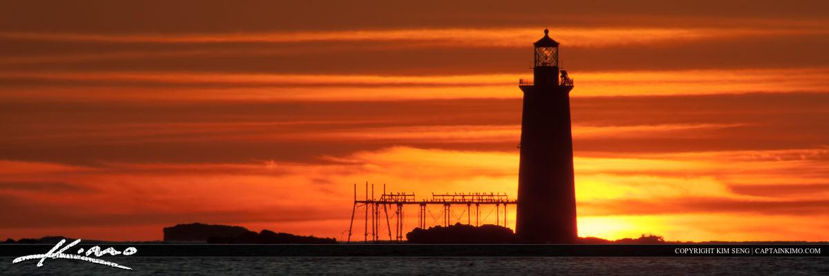 Ram Island Lighthouse Cape Elizabeth Sunrise