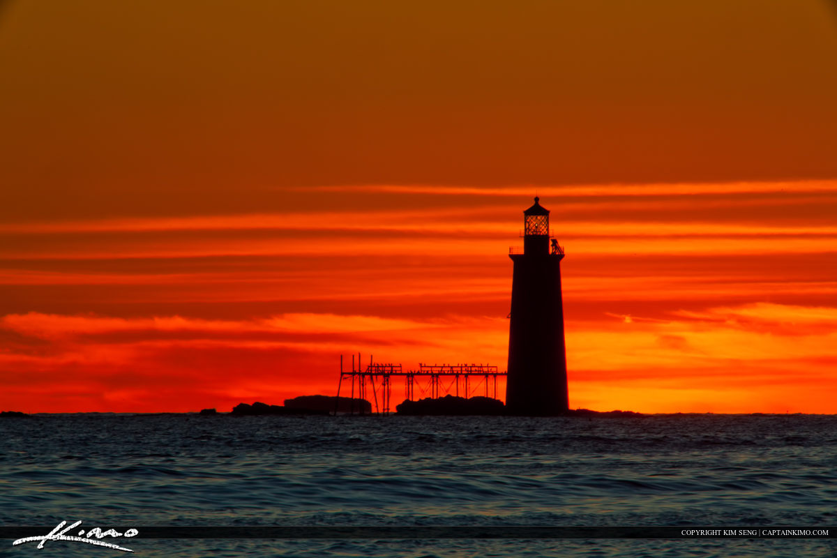 Ram Island Lighthouse Cape Elizabeth Out at Sea