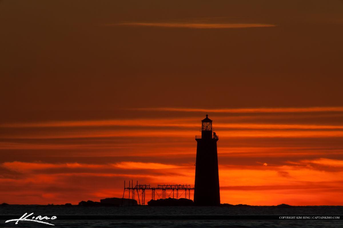 Ram Island Lighthouse Cape Elizabeth from Fort Williams Park