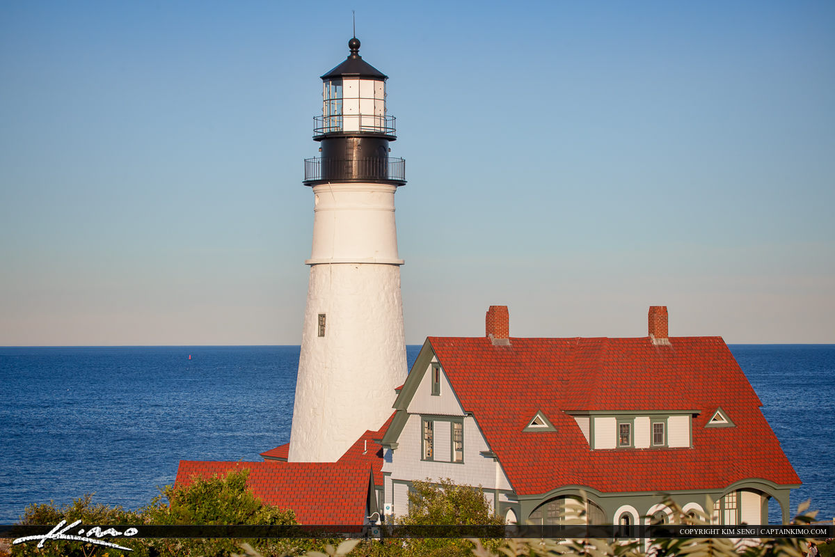 Portland headlight Cape Elizabeth Maine standing tall