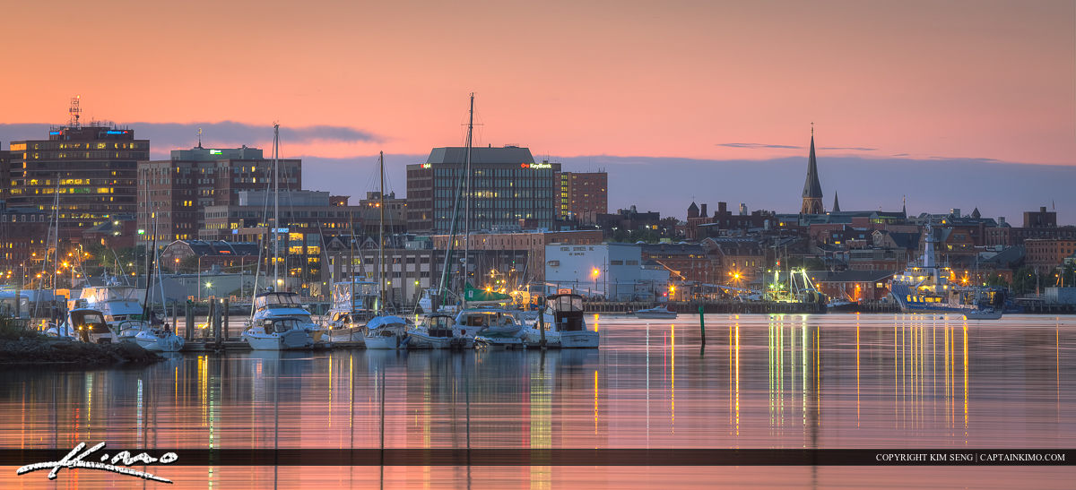 Portland Harbor Photo of the City and Marina