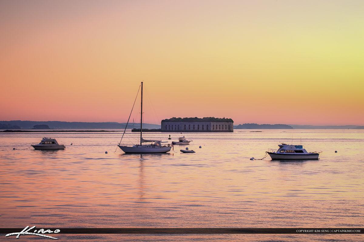 Portland Harbor from South Portland Maine