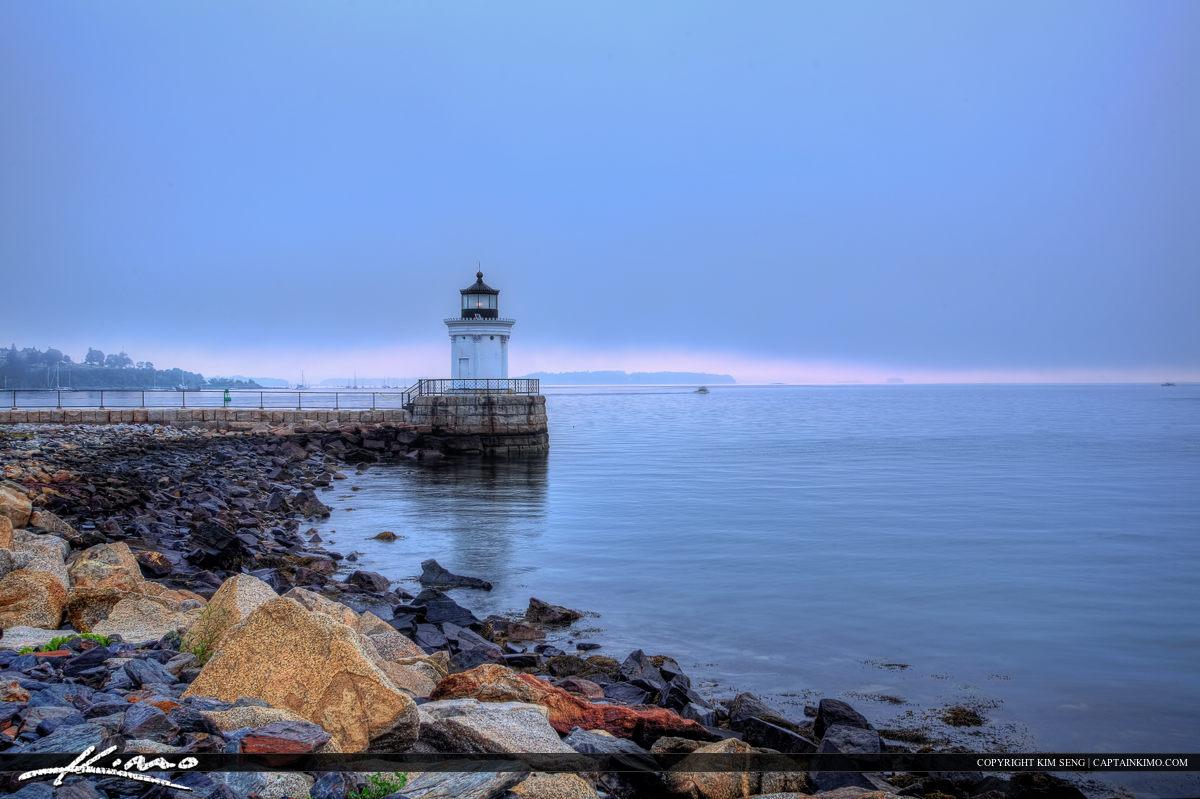 Portland Breakwater light at South Portland Maine