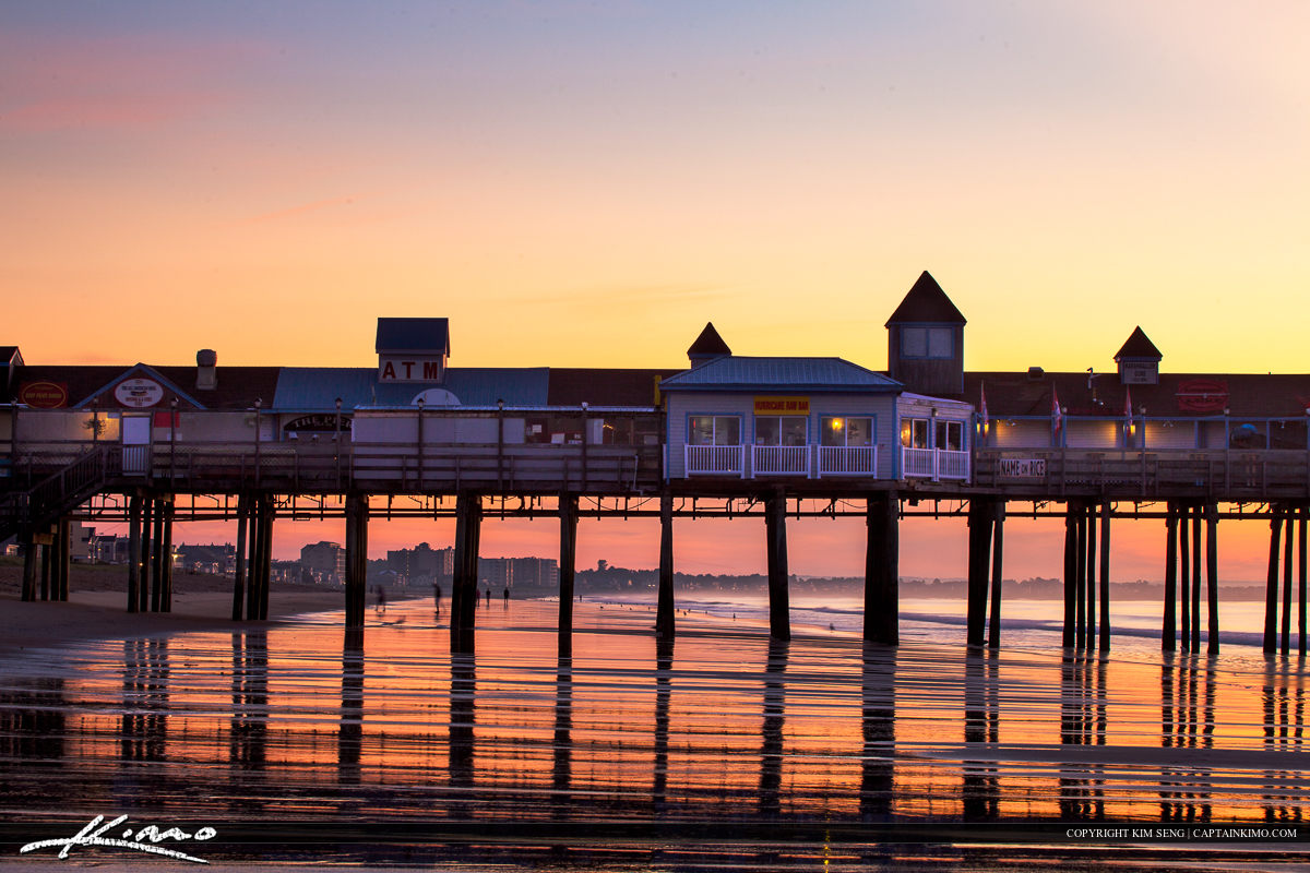Old Orchard Beach Pier Maine Beautiful Day