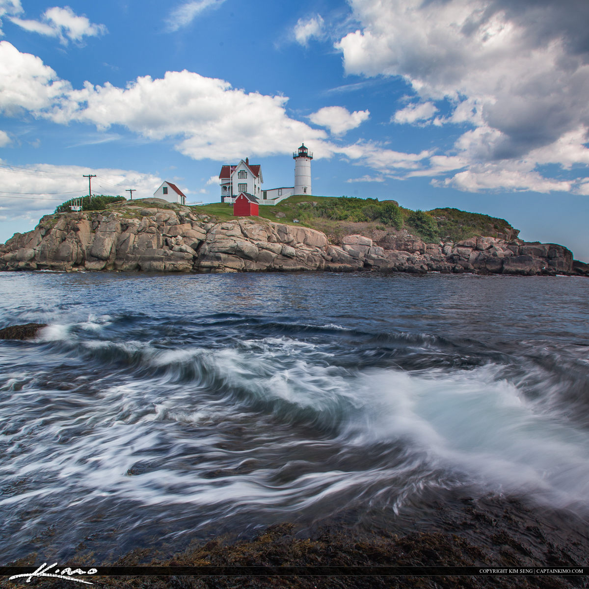 Nubble Lighthouse with Nice Wave