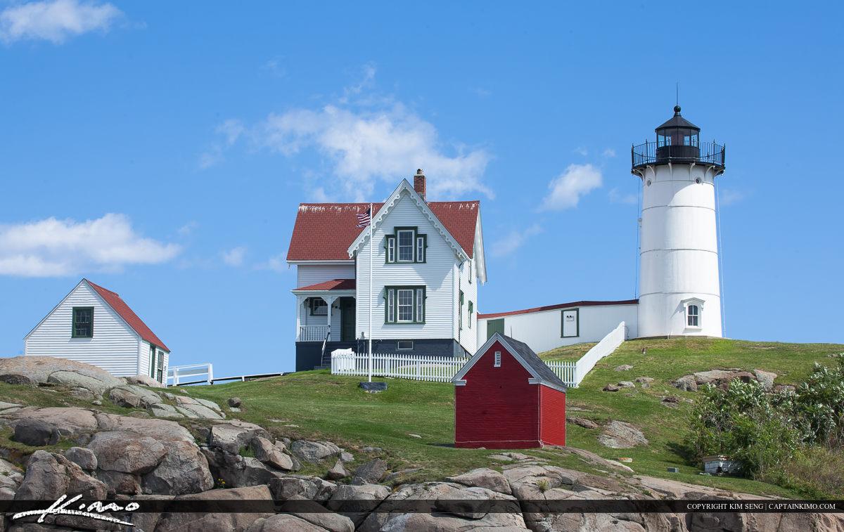 Maine Lighthouse at Cape Neddick the Nubble Light
