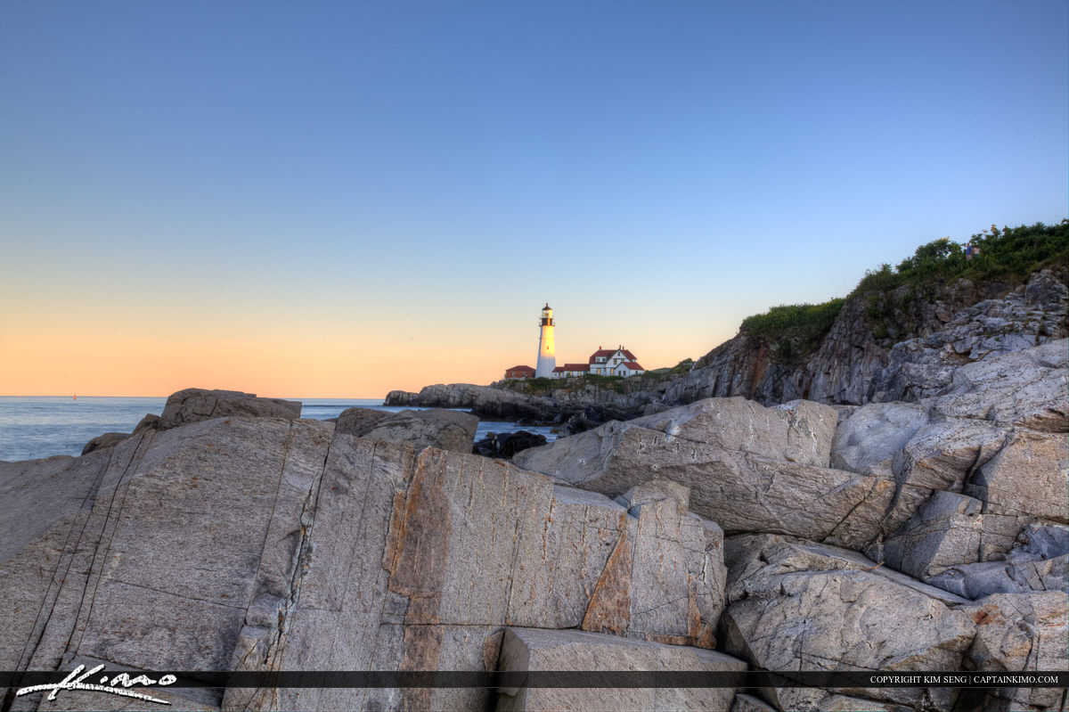 Maine lighthouse at Cape Elizabeth
