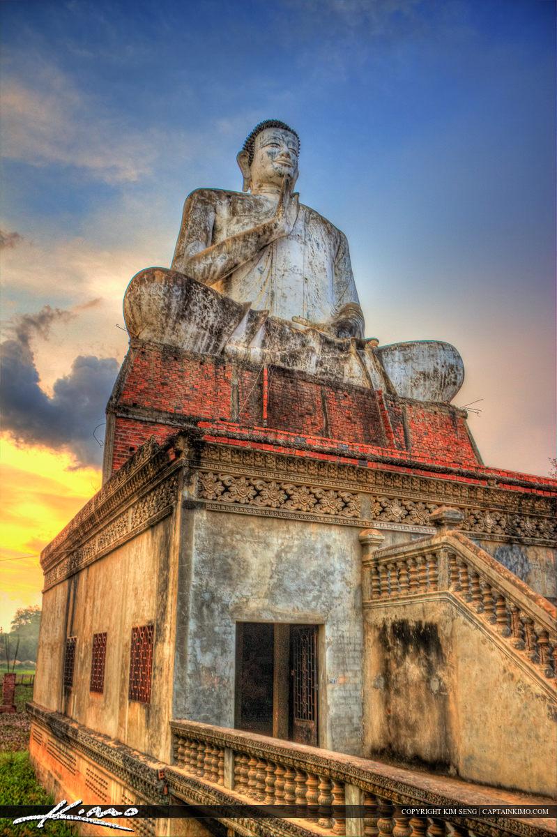 Looking Up at Buddha Statue