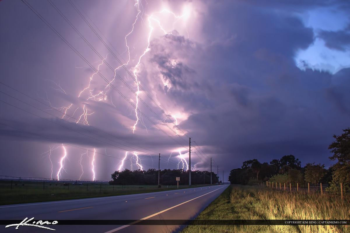 Lightning Strike Kanner Highway Port Mayaca