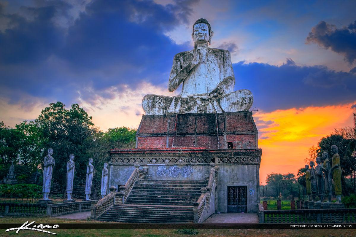Large Buddha Statue Sitting Tall Cambodia