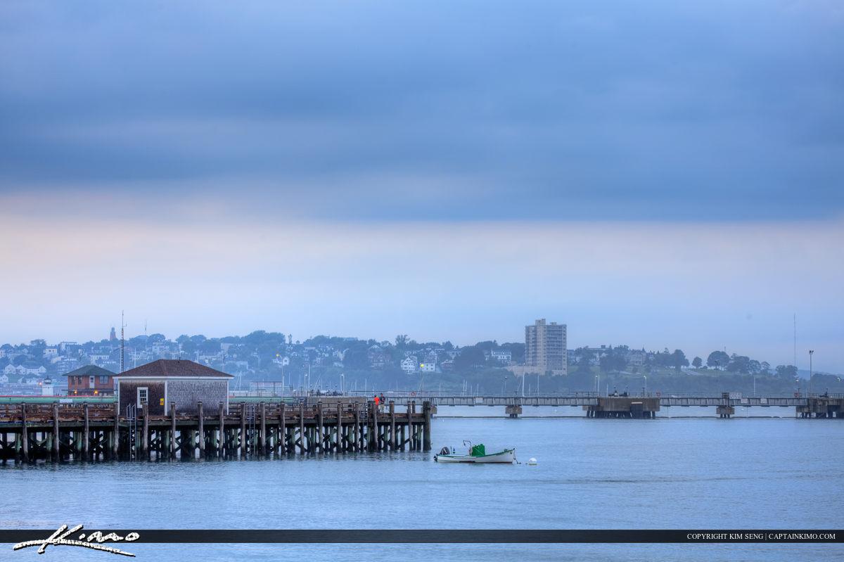 Foggy morning at Portland Harbor South Portland Maine
