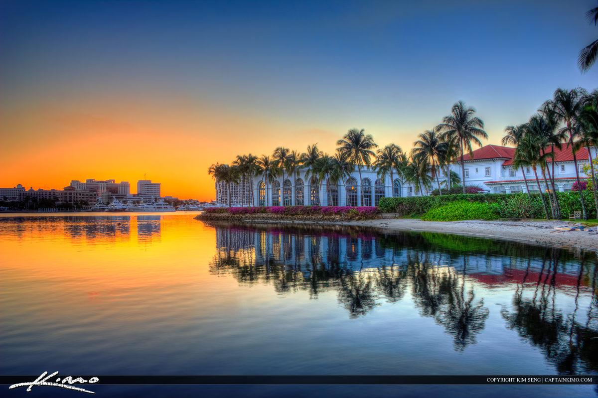 Flagler Museum Sunset Waterway West Palm Beach