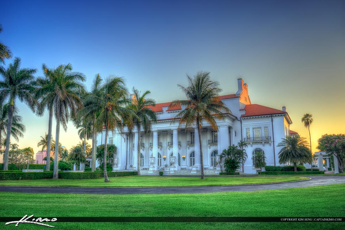 Flagler Museum Palm Beach Sunset