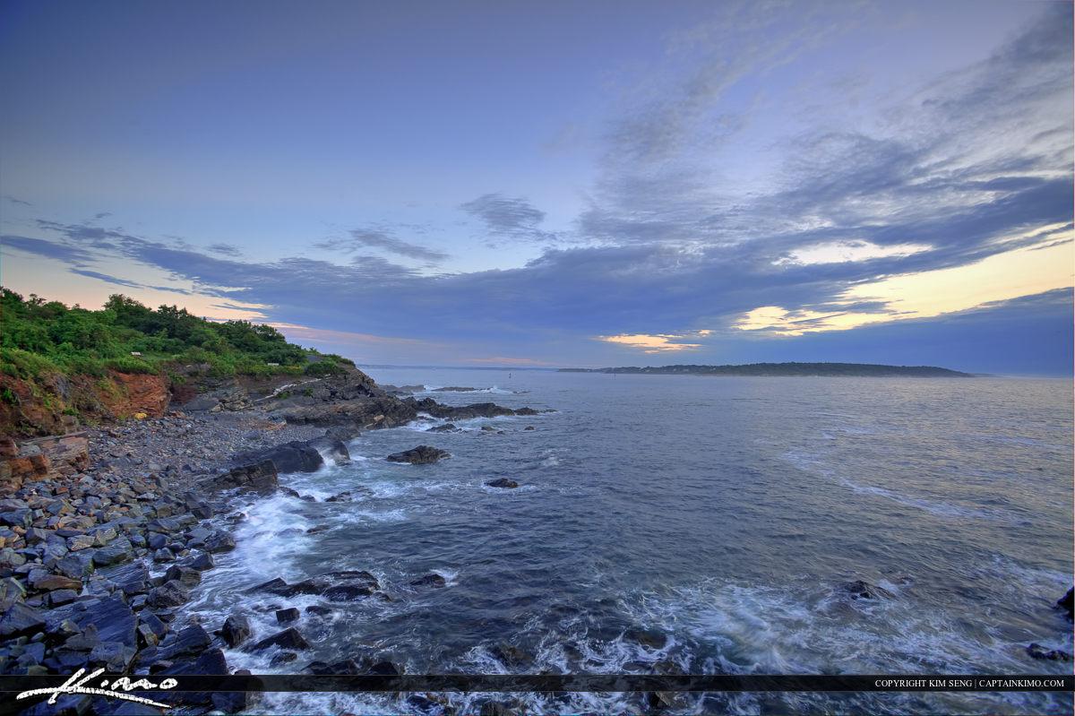 Cape Elizabeth along the coast at Fort Williams Park