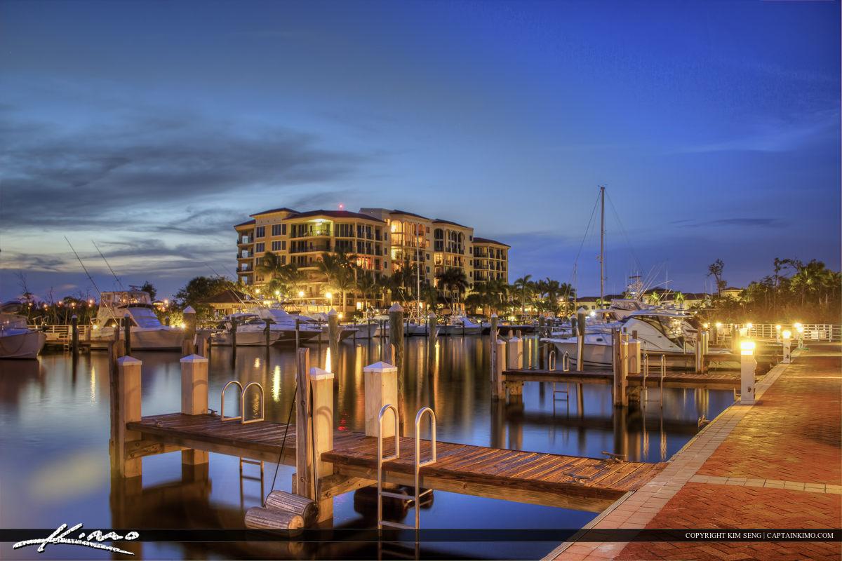 Boat dock in Jupiter Florida at the River walk Marina