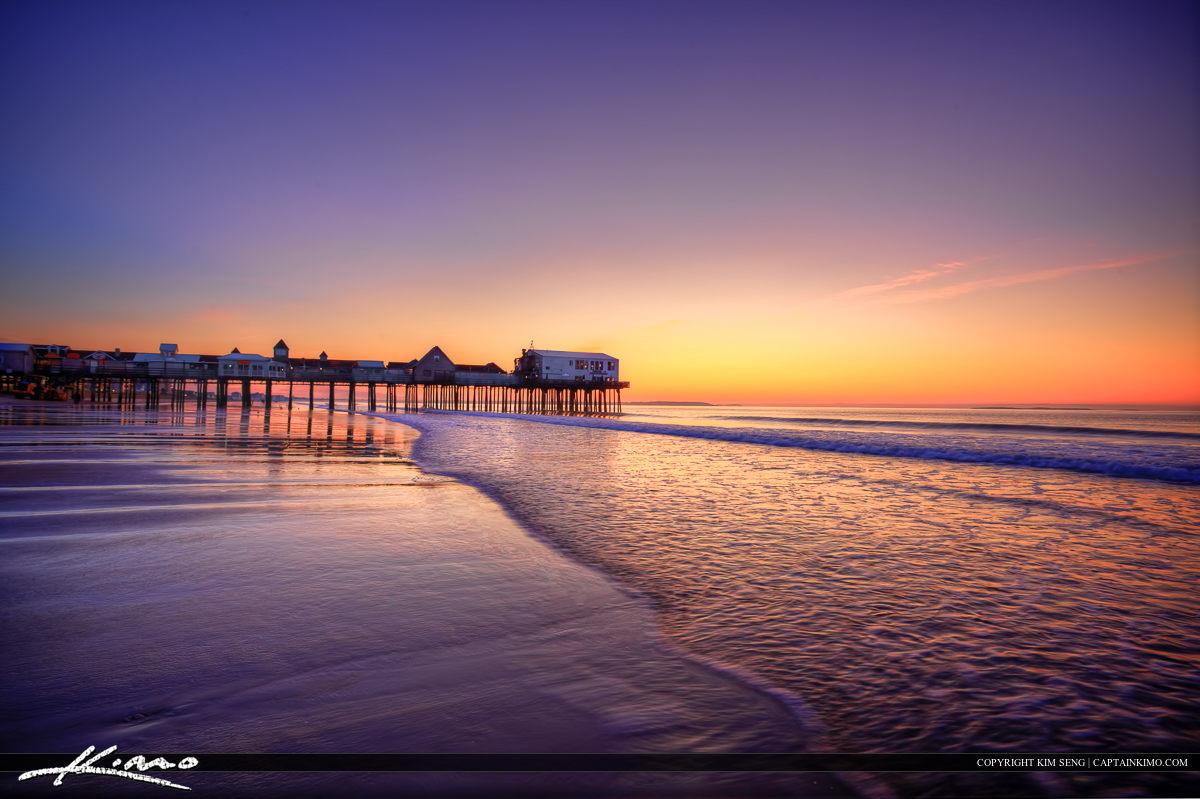 Beautiful Purple Morning Old Orchard Beach Pier