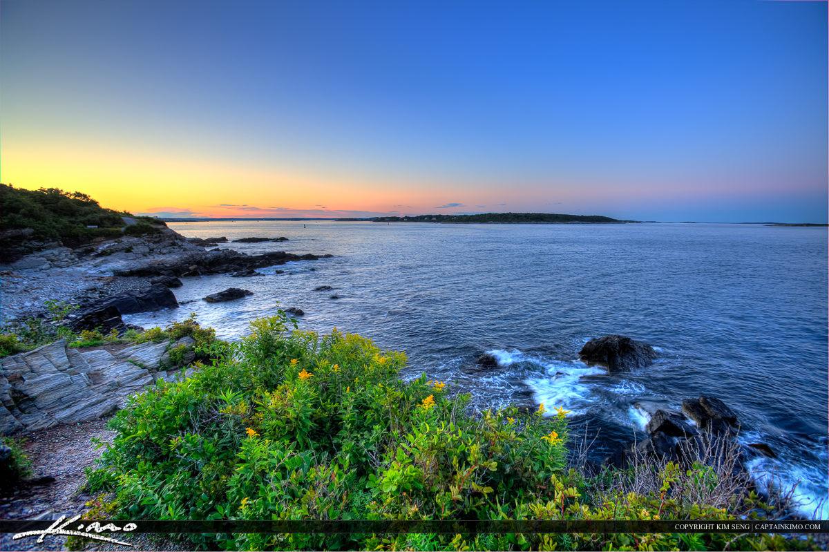Beautiful landscape colors at Cape Elizabeth along the coast