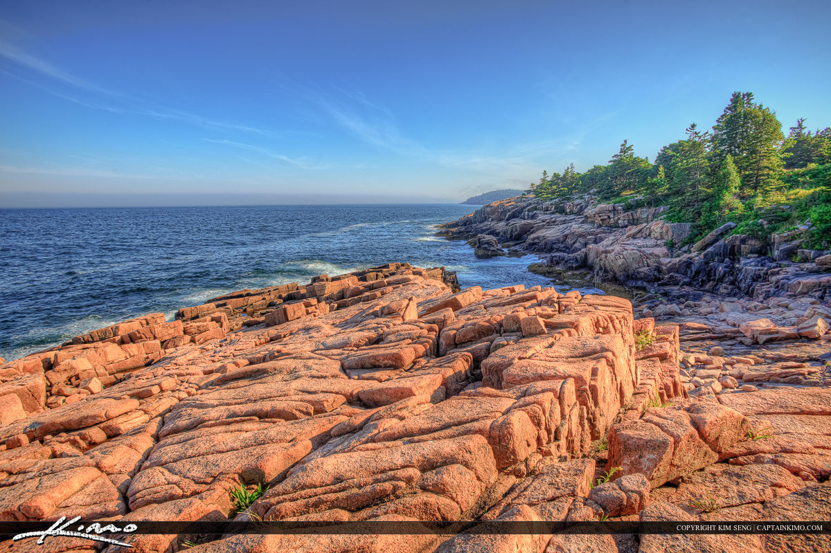 Beautiful landscape at Acadia National Park