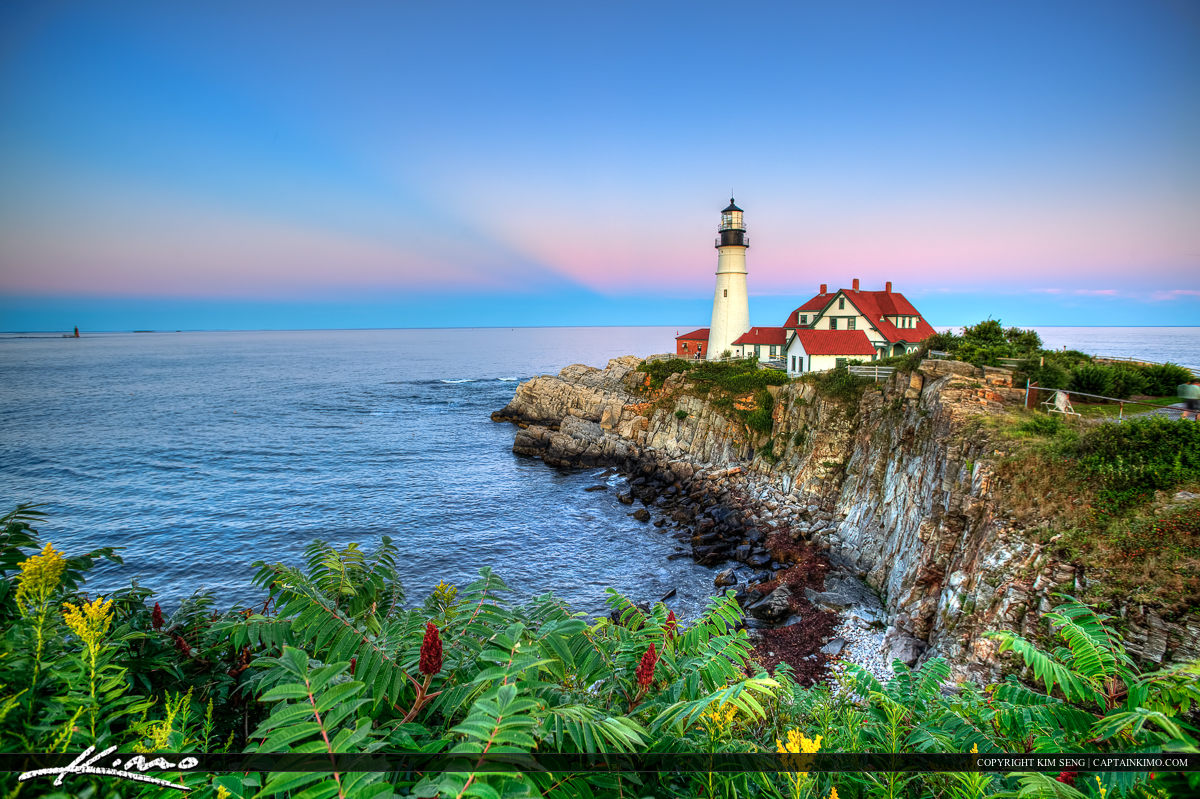 Beautiful Greens Portland Maine Head Light Maine