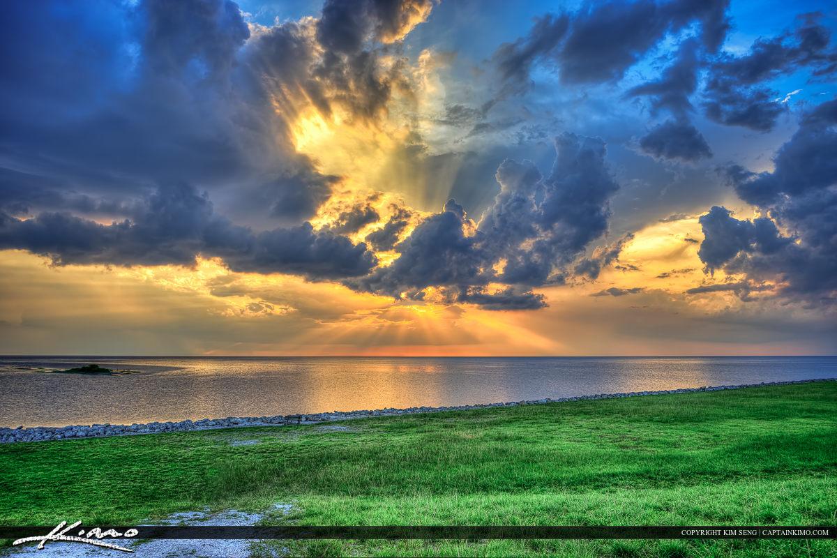 Beautiful Clouds Over Lake Okeechobee