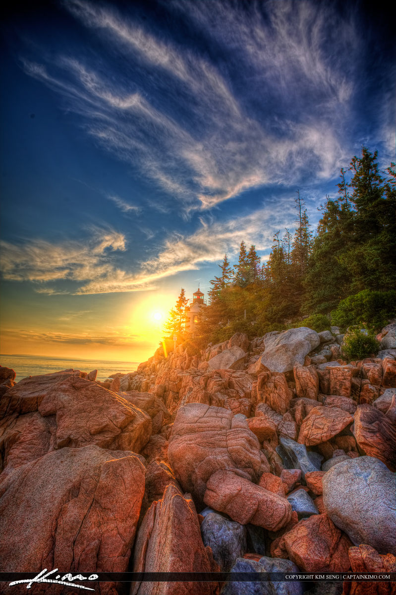 Bass Harbor lighthouse at Acadia national Park in Maine