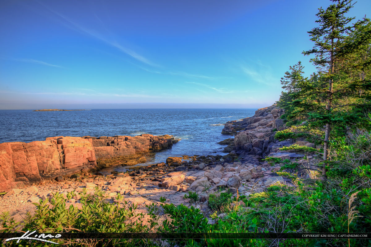 Acadia national Park Maine nice blue day