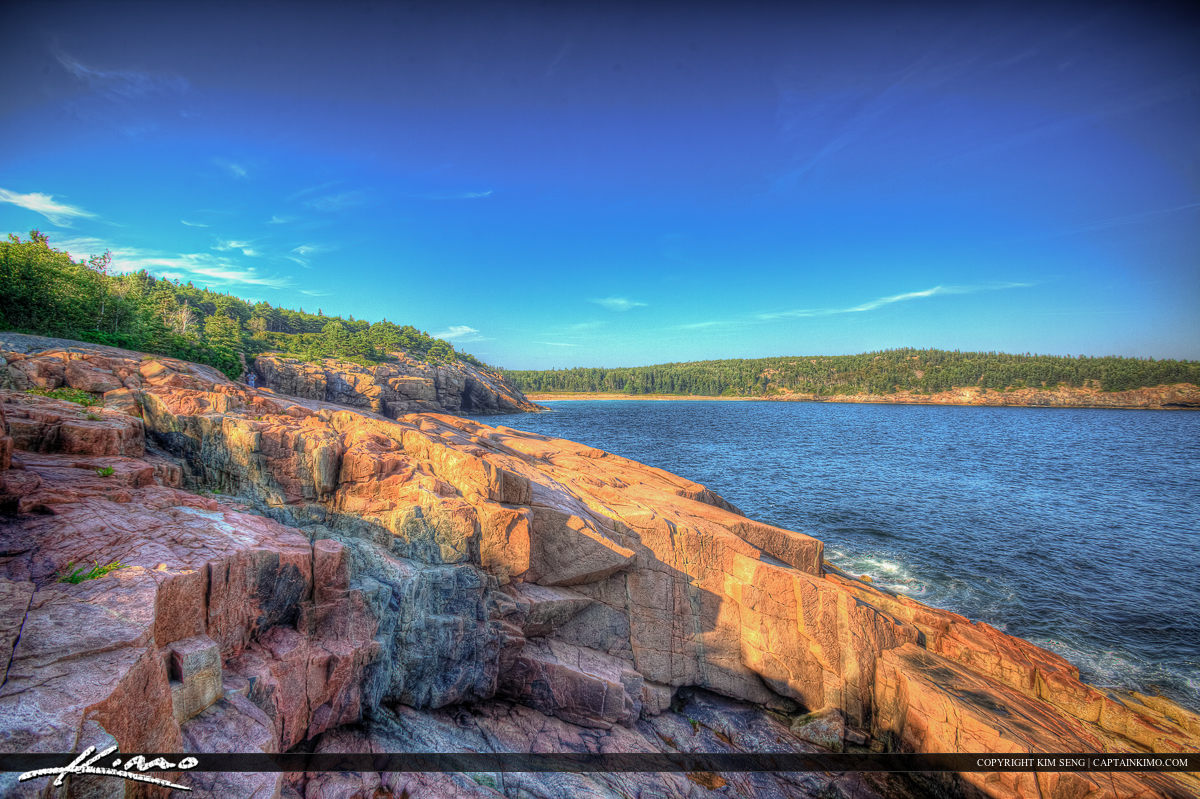 Acadia National Park in Maine on a beautiful day
