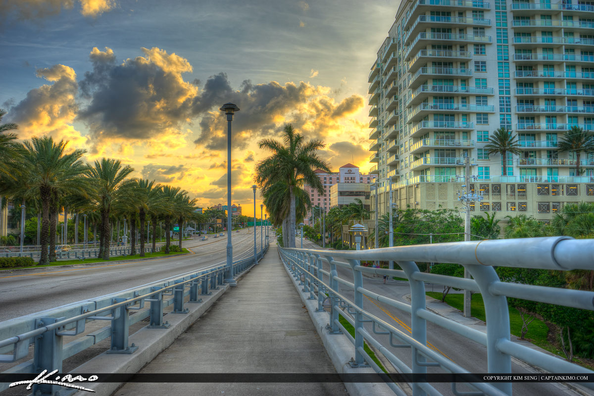 17th Street Sidewalk Fort Lauderdale Florida Broward County