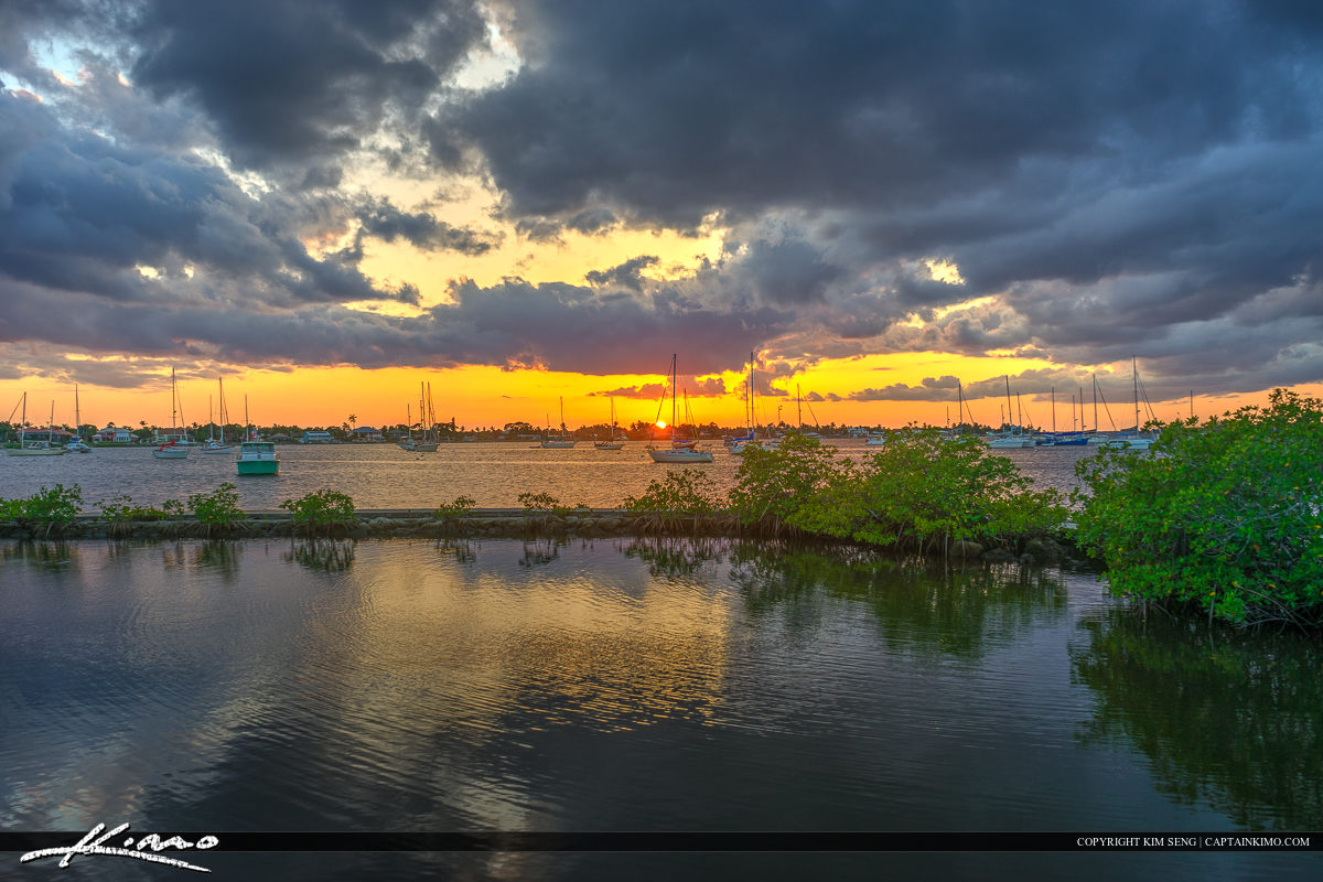 Sunset Over Stuart Waterway Shepard Park