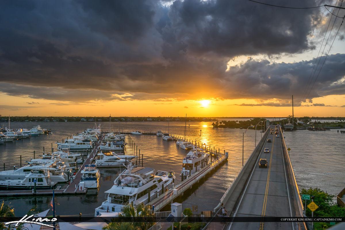 Sunset from Roosevelt Bridge of Marina