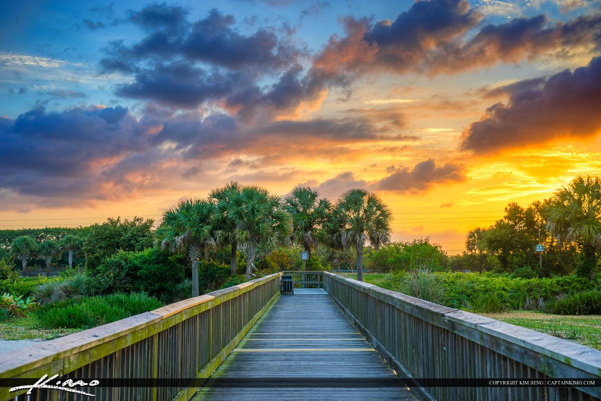 Sunset Boardwalk Village Park Wellington Florida
