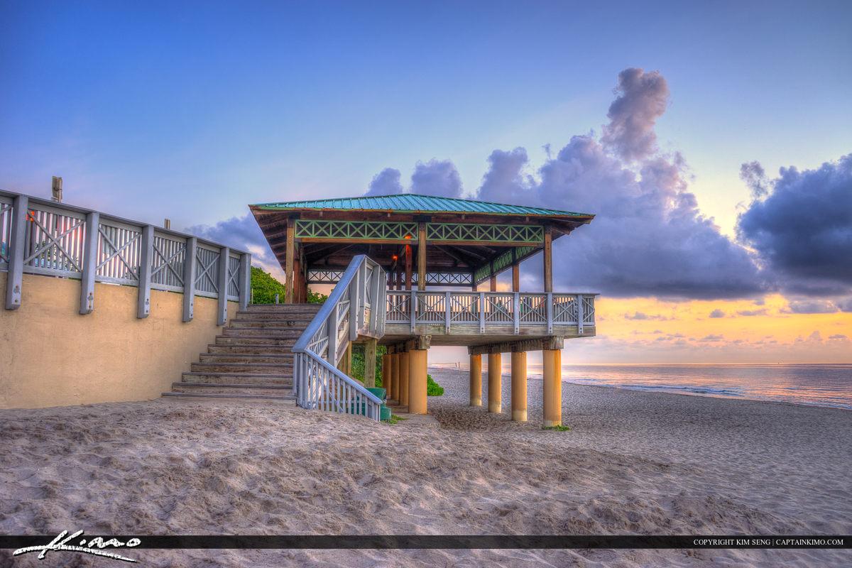 South Inlet Park Gazebo Boca Raton Florida Beach Sunrise