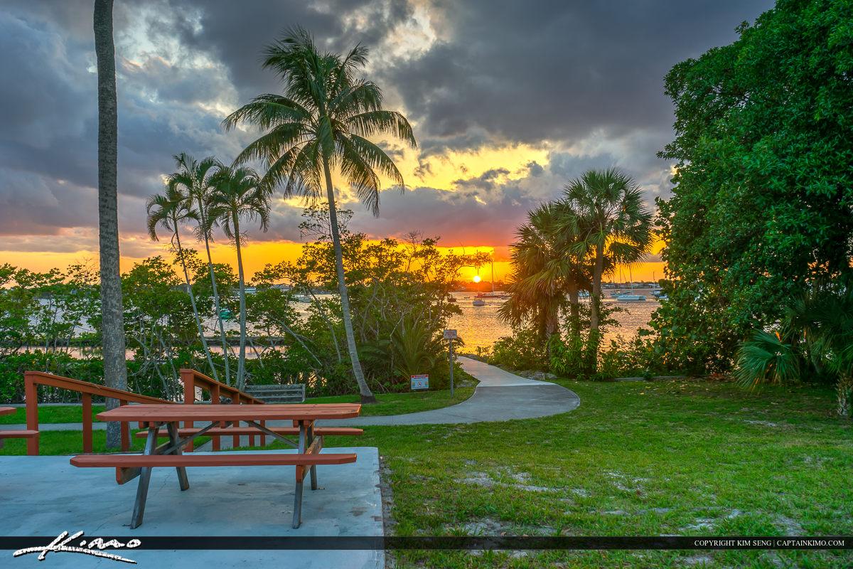 Shepard Park Sunset at Stuart Florida