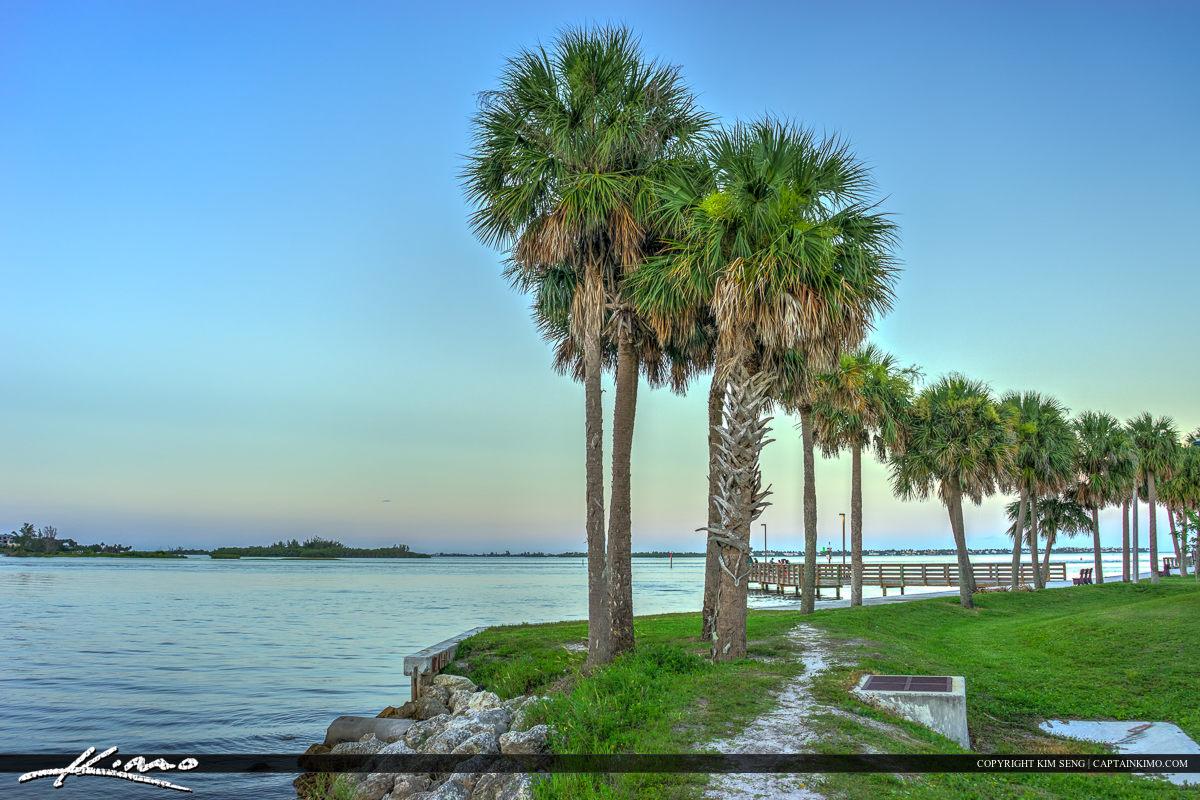 Sandsprit Park Palm Tree Port Salerno Florida Martin County