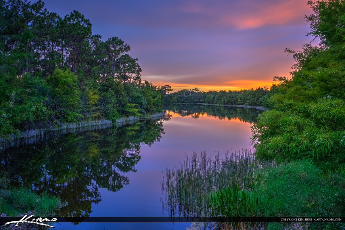 Reflection and Colors Over Lake Jupiter Florida