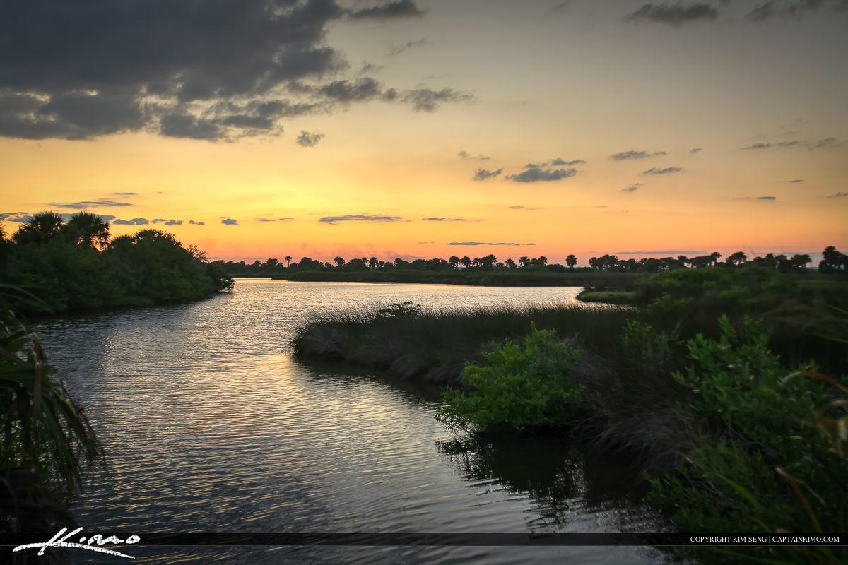 New Smyrna Beach Mosquito Lagoon Sunset at Fork