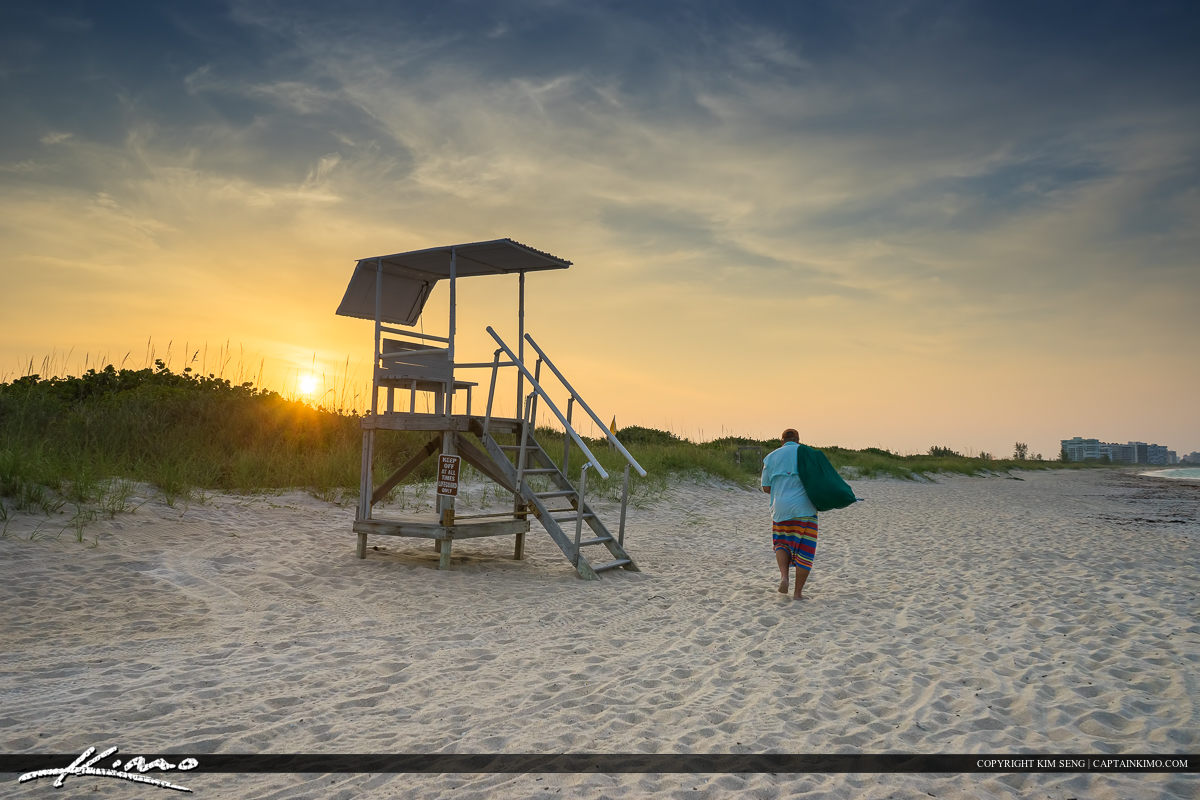 Man going home at Fort Pierce Inlet State Park