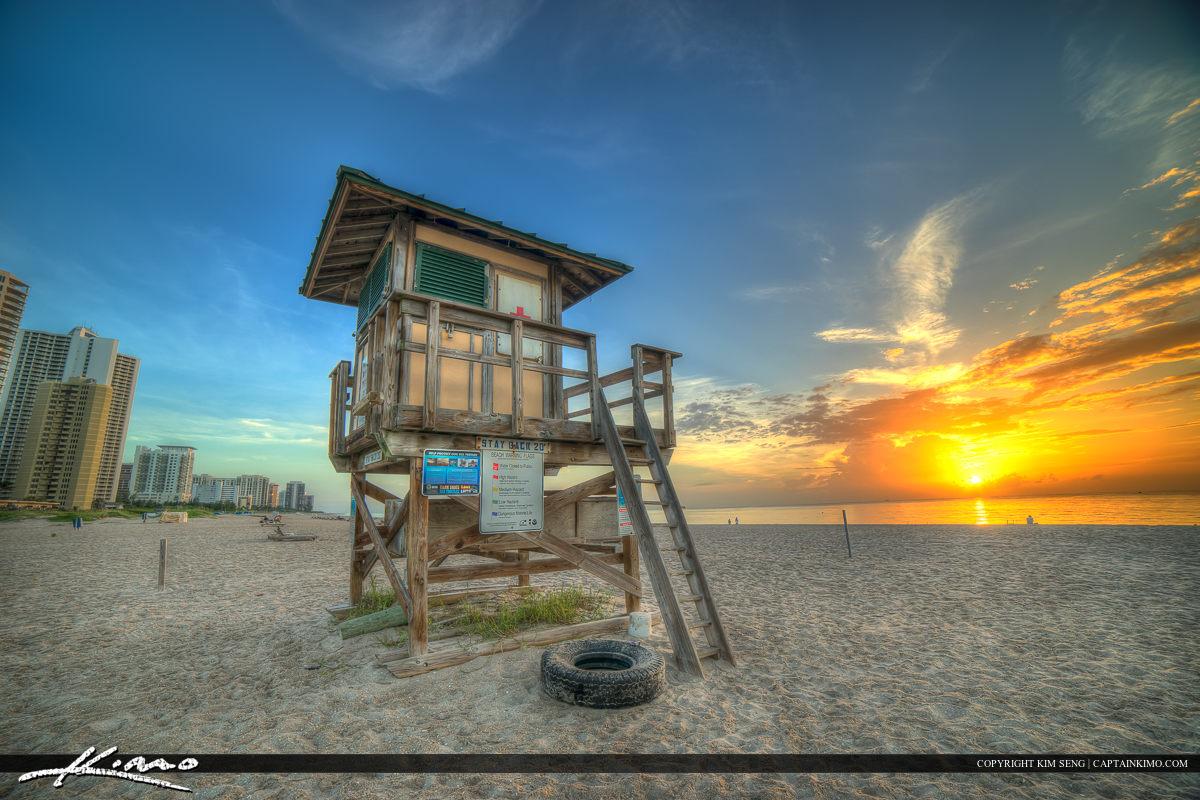 Lifeguard Tower Singer Island Florida