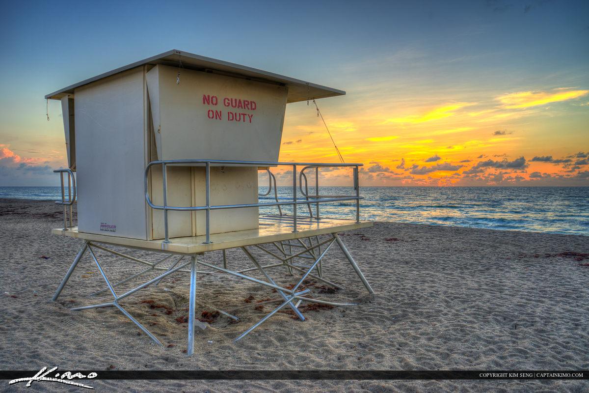 Lifeguard tower at beach Stuart Florida