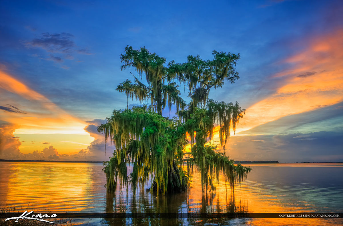 Lake Istokpoga Sunset Over Lake Placid Florida