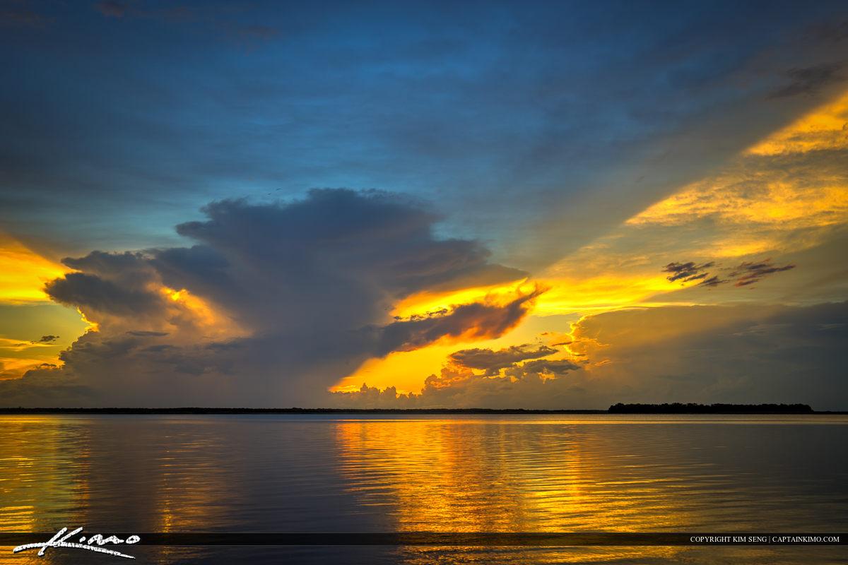 Lake Istokpoga Lake Placid Florida Sunset Over Water