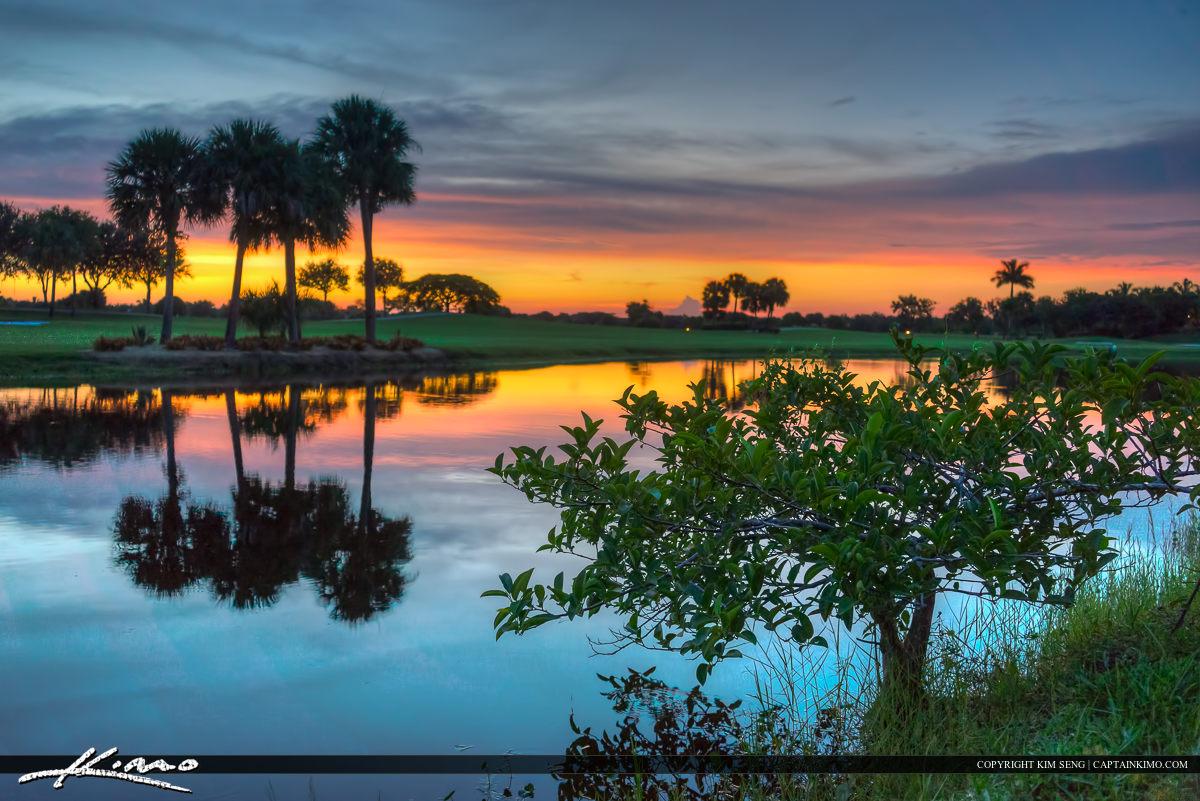 Lake at Abacoa Golf Course Sunset