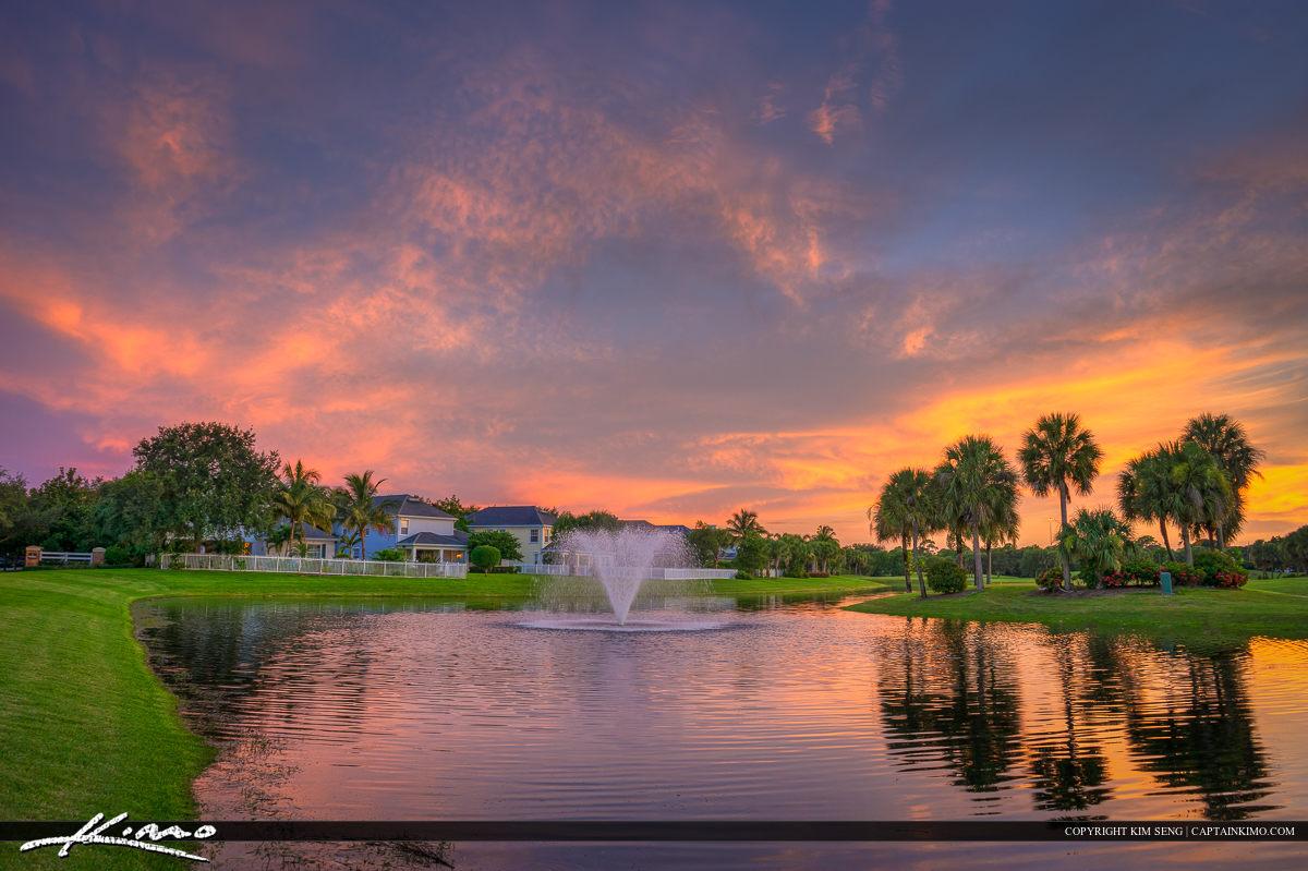 Jupiter Real Estate Abacoa Golf Course Sunset