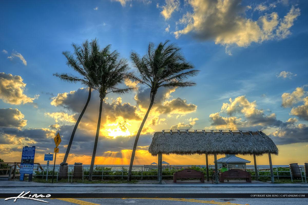Juno Beach Park at sunrise Palm Beach County Florida