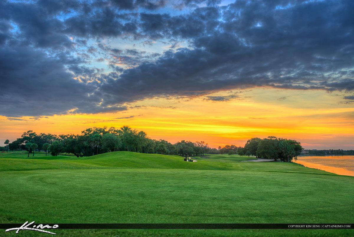 Green Grass at Golf Course North Palm Beach Florida