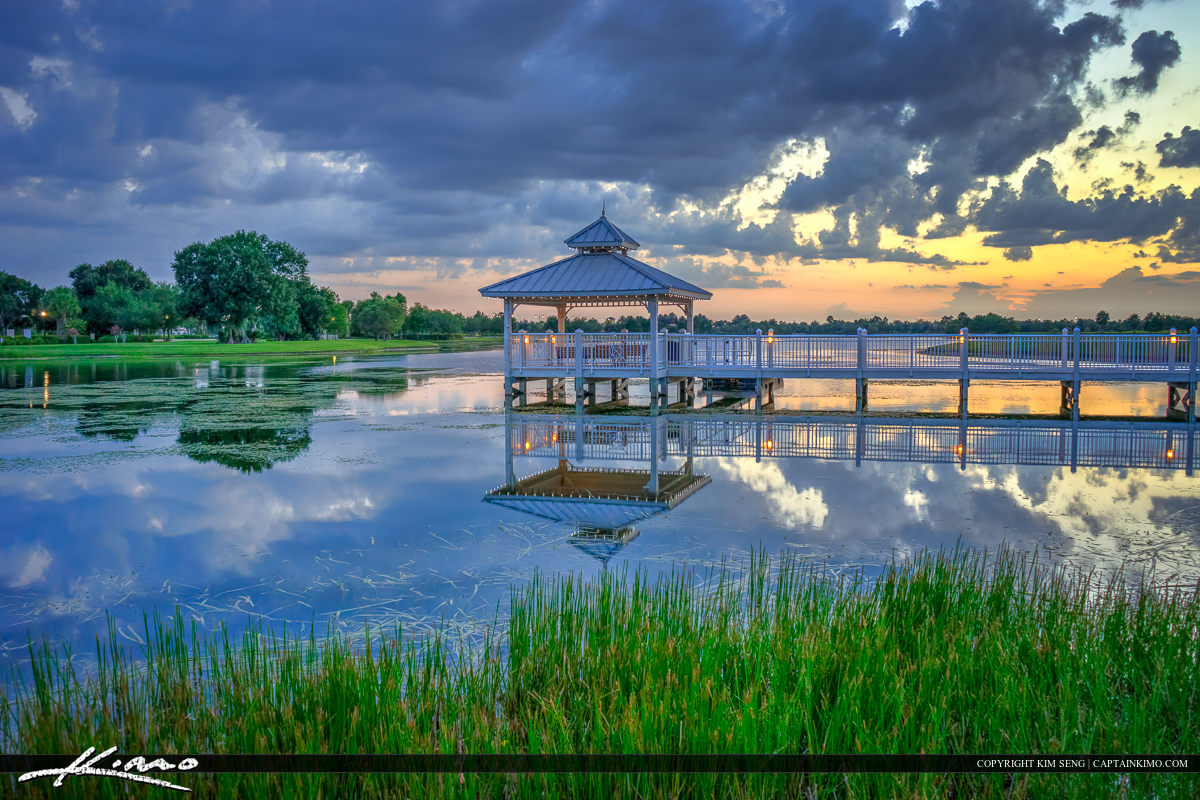 Gazebo on Lake at Tradition Square Port St Lucie Florida