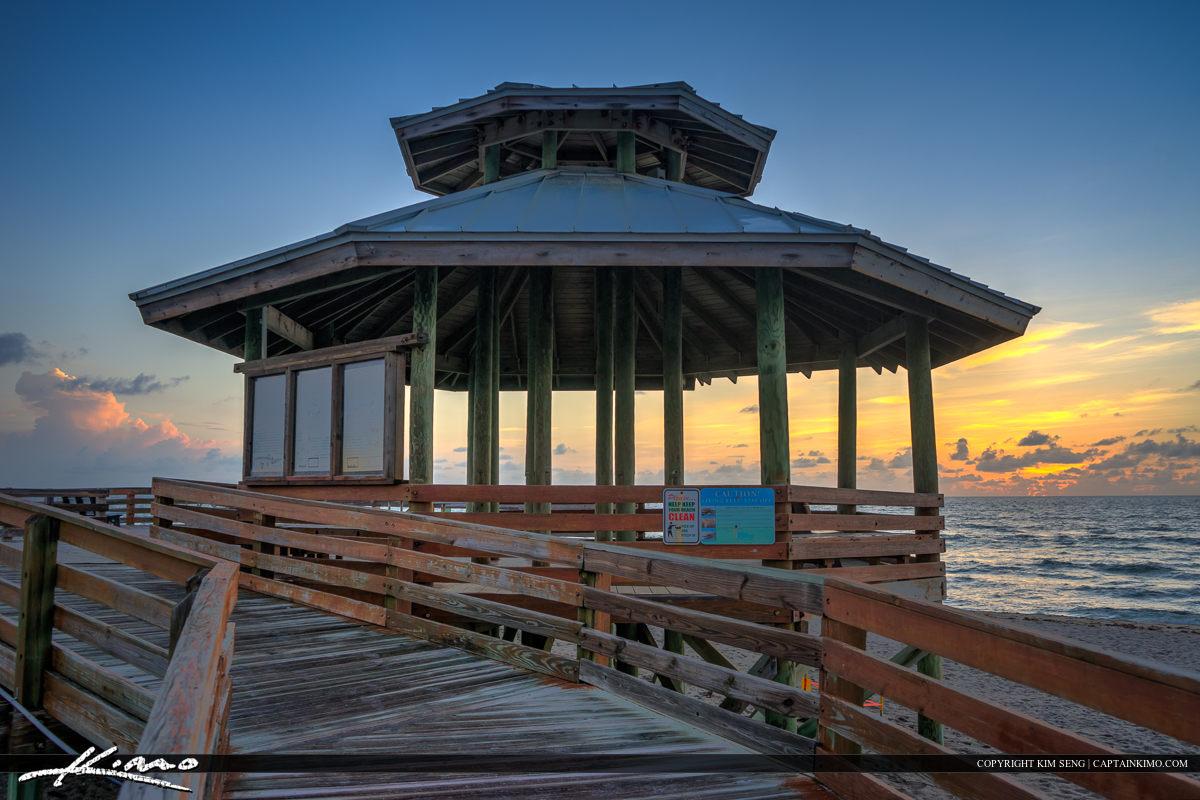 Gazebo at Bathtub Beach Stuart Florida