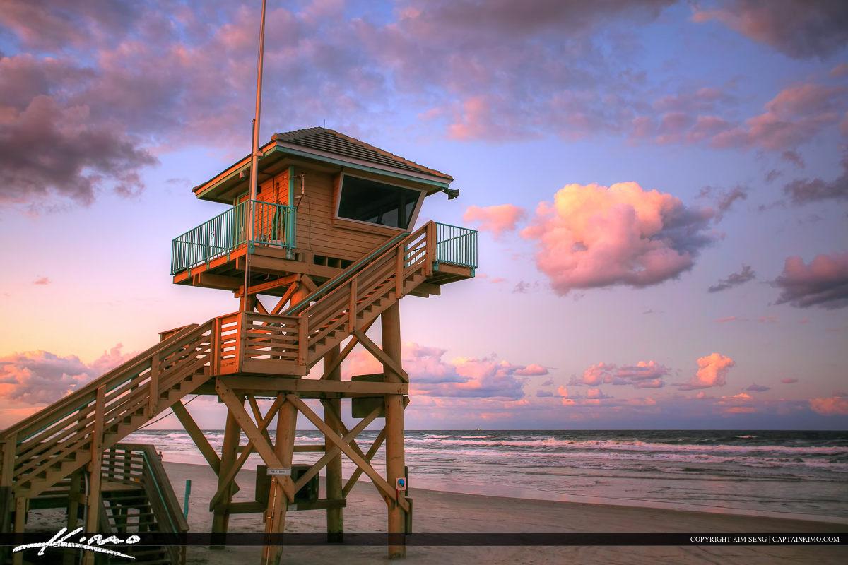 Daytona Beach Shores Lifeguard Tower at Beach