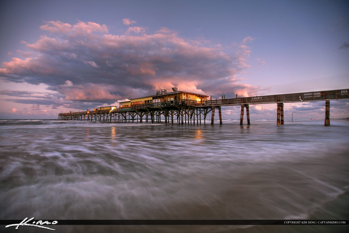 Daytona Beach Shores Crabby Joe's Deck & Grill Rushing Wave